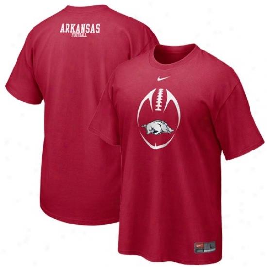 Nik Aekansas Razorbacks Cardinal Team Issue T-shirt