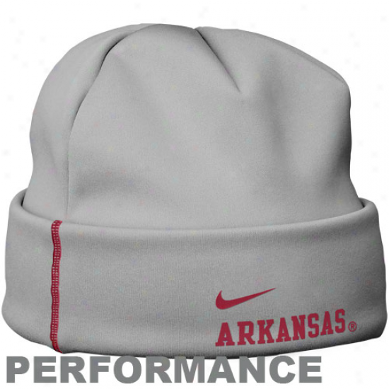 Nike Arkansas Razorbacks Gray Training Performance Beanie