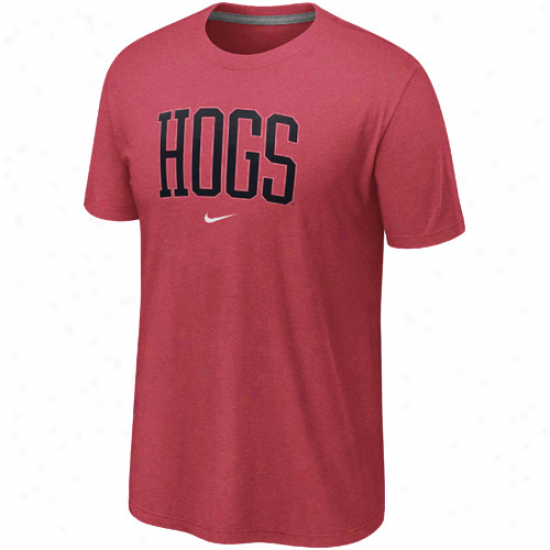 Nike Arkansas Razorbacks Hogs Graphic Tri-blend T-shirt - Cardinal Red