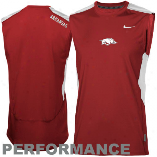 Nike Arkansas Razorbacks Speed Fly Performance Premium Sleeveless T-shirt - Cardonal