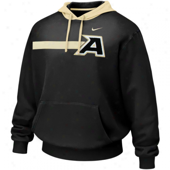 Nike Army Blackk Knights Black Bump 'n Run Hoodie Sweatshirt