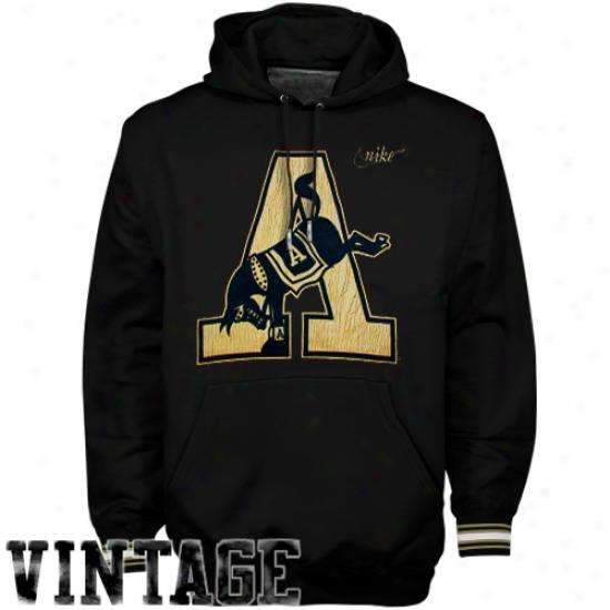 Nike Army Black Knights Black Vault Stripe Vintage Pullover Hoodie Sweatshirt