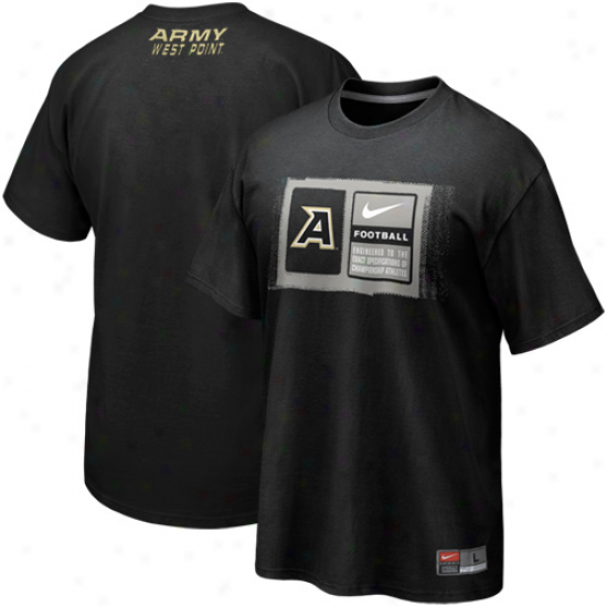 Nike Army Black nKights Team Issue T-shirt - Black