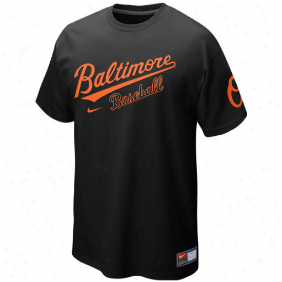 Nike Bwltimore Orioles Away Practice T-shirt - Black