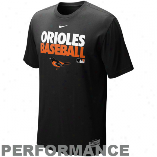 Nike Baltimore Orioles Graphic Dri-fit Performance T-shirt - Black