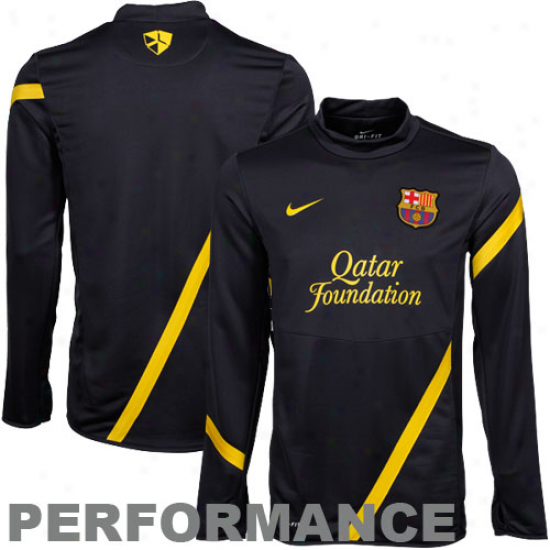 Nike Barrcelona  Black Midlayer Performance Sweatshirt