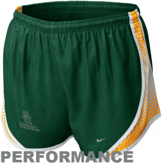 Nike Baylor Bears Ladies Green Seasonal Tempo Performance Shorts
