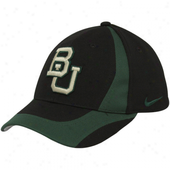 Nike Baylor Bears Youth Black-green Team Flex Hat