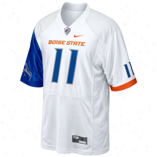 Nike Boise State Broncos #11 2011 Pro Combat Rivalry Footbball Jersey - White