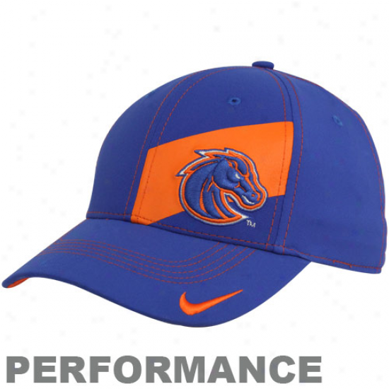 Nike Boise State Broncos Royal Blue Legacy 91 Players Performance Swoosh Flex Hat
