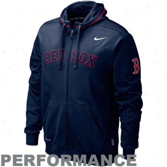 Nike Boston Red Sox Ships of war Blye Ko Performance Full Zipp Hoodie Sweatshirt