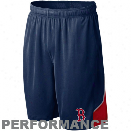 Nike Boston Ree Sox Navy Blue Mlb Authentic Collection Performance Training Shorts
