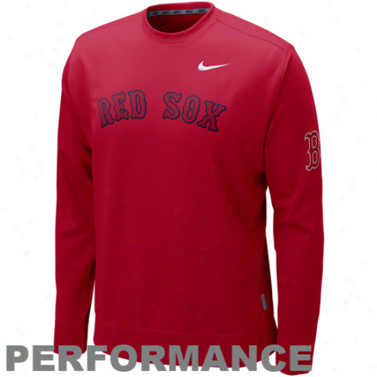 Nike Boston Red Sox Red Ko Performance Company Sweatshirt