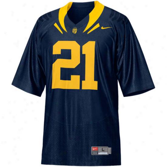 Nike Cal Bears #21 Replica Football Jersey - Navy Blue