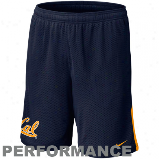 Nike Cal Bears Monster Mesh Performance Shorts - Navy Blue