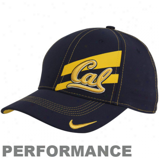 Nike Cal Bears Navy Blue Legacy 91 Players Performance Swoosh Flex Hat