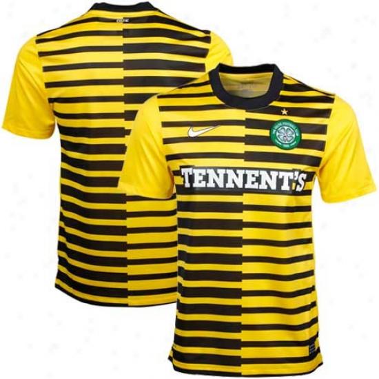 Nike Celtic Third Soccer Jersey 11/12 - Golden