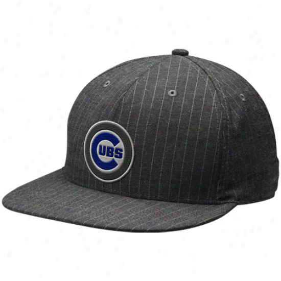Nike Chicago Cubs Charcoal Pinstripe Swoosh Flex Uhisex Hat