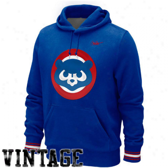 Nike Cjicago Cubs Cooperstown Hoodie - Magnificent Blue