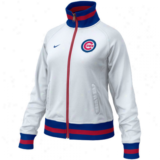 Nike Chicago Cubs Ladies White Track Jacket