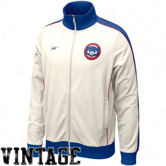 Nike Chicago Cubs Natural Cooperstown Full Zip Track Jacket