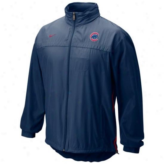 Nike Chicago Cubs Navy Blue Mlb Filled Zip Wind Jwcket