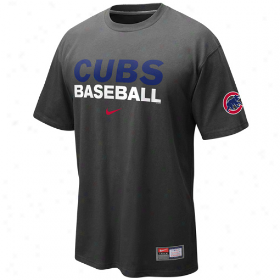 Nike Chicago Cubs Practice T-shirt - Grwphite