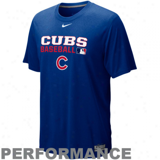 Nike Chicago Cubs Royal Blue Team Iss8e Legend Performance T-shirt