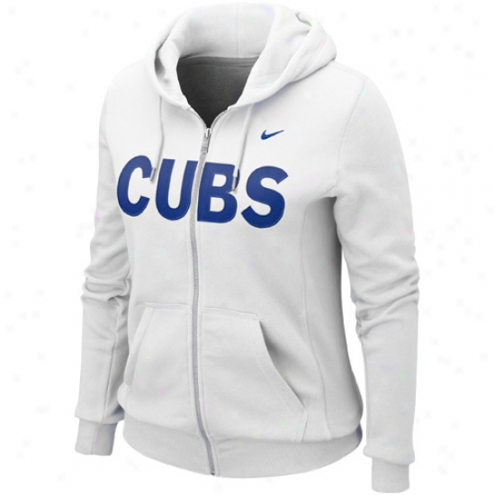 Nike Chicago Cubs Women's Classic Full Zip Hoodie - White