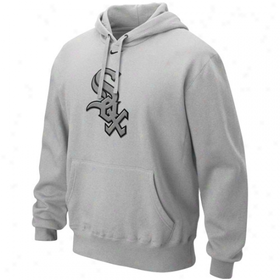Nike Chicago White Sox Ash Cup Of Coffee Hoody Sweatshirt