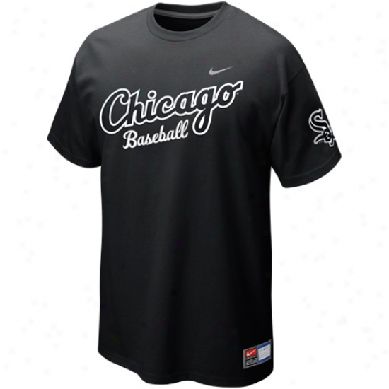 Nike Chicago White Sox Away Practice T-shirt - Black
