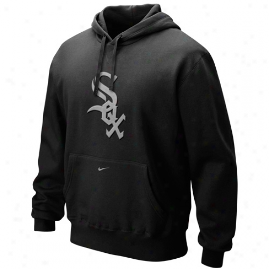 Nikr Chicago White Sox Black Seasonal Fleece Pullover Hoody Sweatshirt