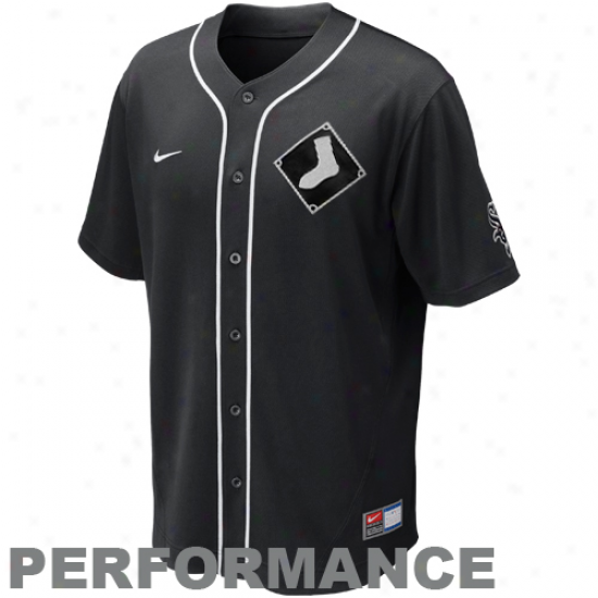 Nike Chicago White Sox Mlb Performance Jersey - Black