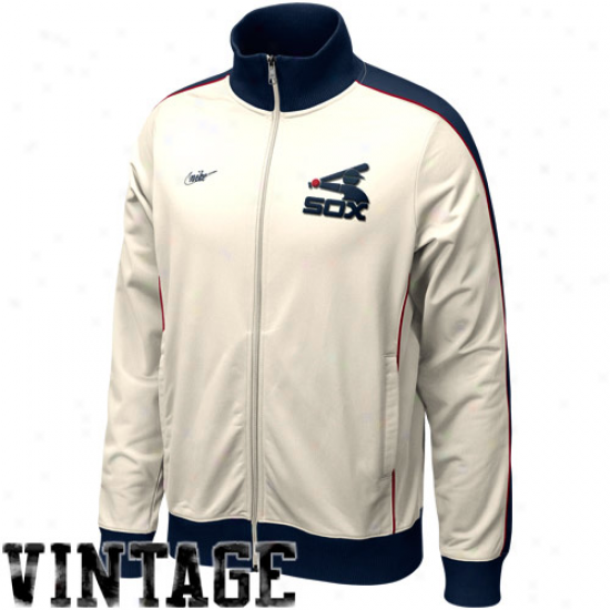 Nike Chicago White Sox Natural Cooperstown Full Zip Track Jacket