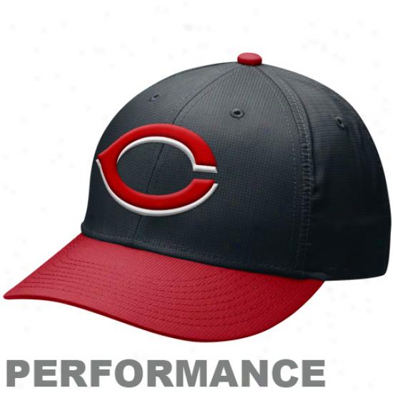 Nike Cincinnati Reds Drif-it Practice Adjustable Hat - Black