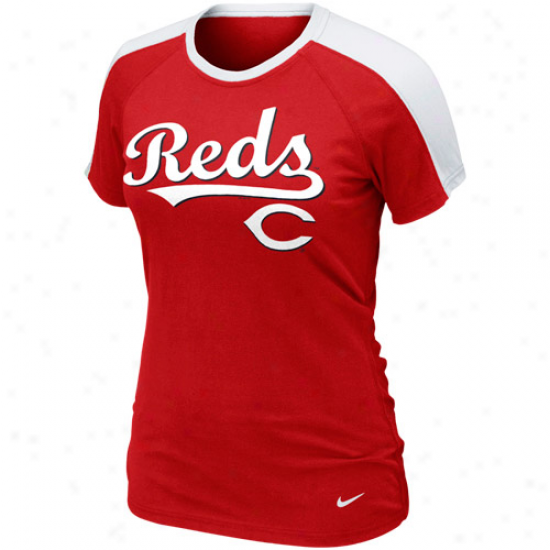 Nike Cincinnati Reds Womens Premium Centerfield T-shirt - Red