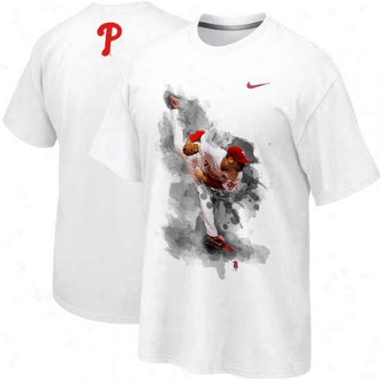 Nike Cliff Lee Philadelphia Phillies Player T-shirt - White
