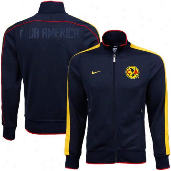 Nike Club America  Navy Blue N98 Full Zip Track Jacket