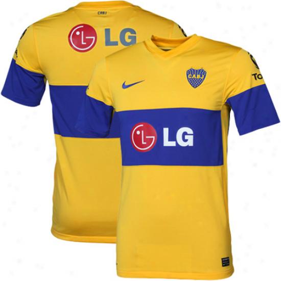 Nike Club Atletico Boca Junipsr Away Soccer Jersey 11/12 - Yellow