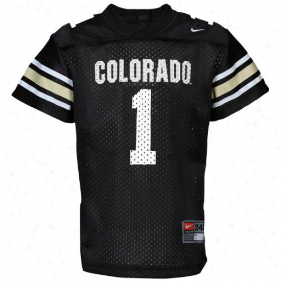 Nike Colorado Buffaloes #1 Infant Replica Football Jersey - Black