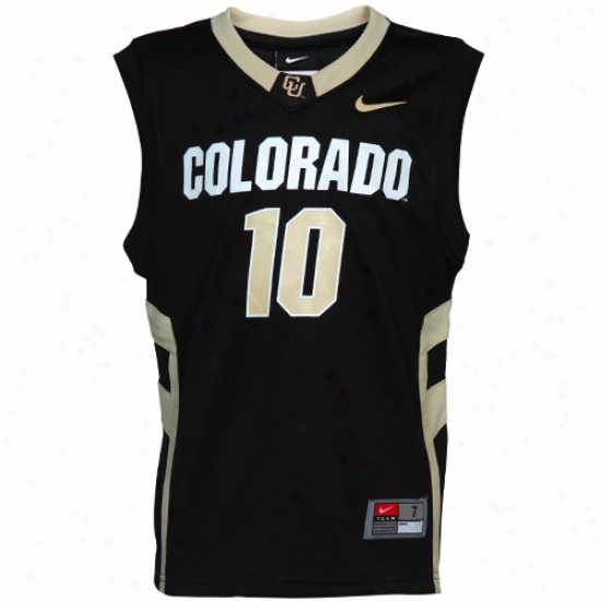 Nike Colorado Buf floes #10 Preschool Replica Basketball Jersey - Black