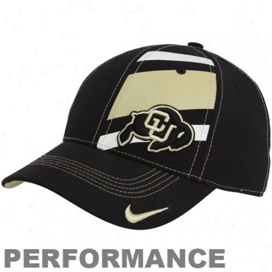 Nike Colorado Buffaloes Black Legacy 91 Players Performance Swoosh Flex Haat