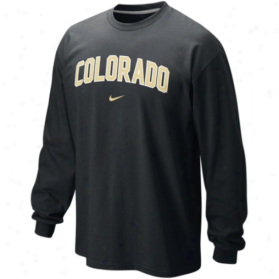 Nik Colorado Buffaloes Classic Arch Long Sleeve T-shirt - Black