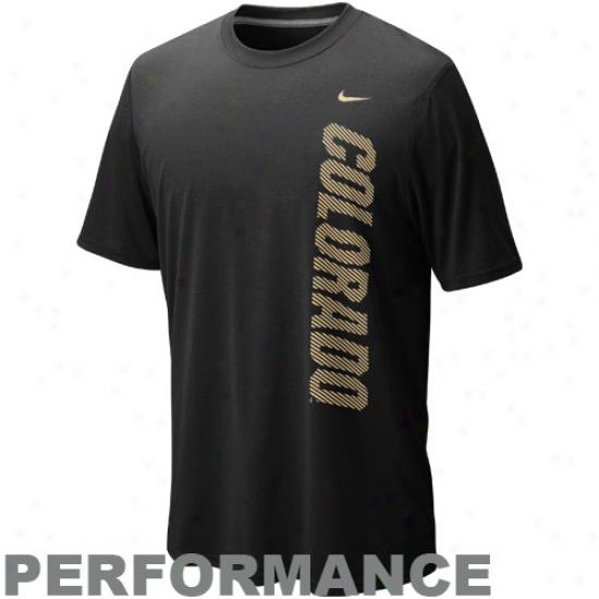Nike Colorado Buffaloes Dri-fit Graphic Legend Performance T-shirt - Black