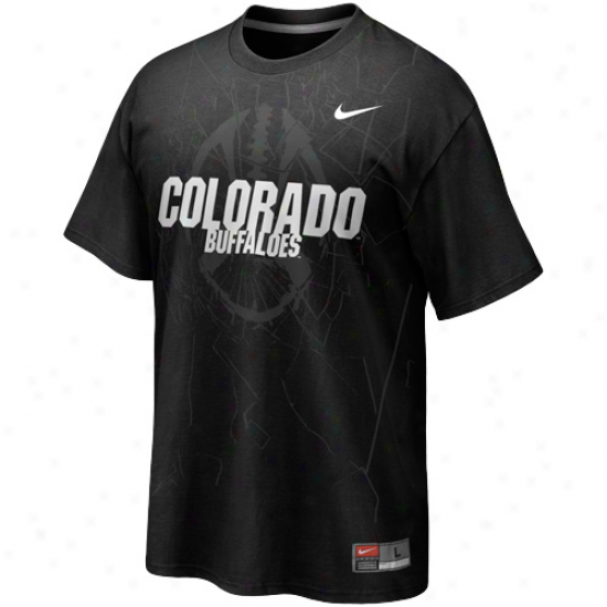 Nike Coloraod Buffaloes Football Practice T-shirt - Black