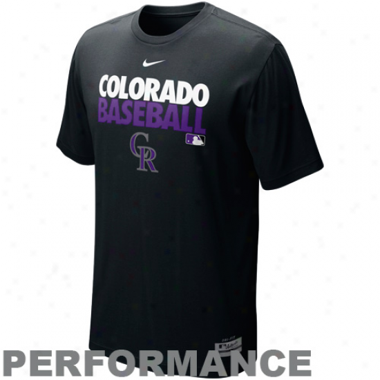 Nike Colorado Rockies Graphic Dri-fit Playing T-short - Black