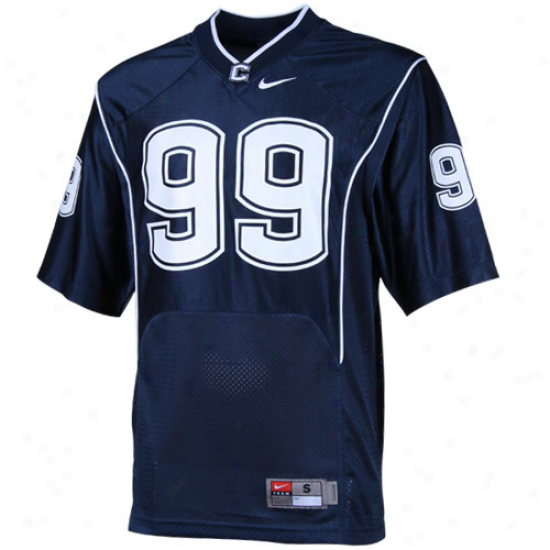 Nike Connecticut Huskies (uconn) #99 Replica Footgall Jersey - aNvy Blue