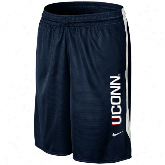Nike Connecticut Huskies (uconn) Classic Mesh Shorts - Navy Blue