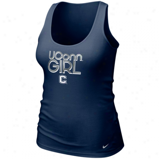Nike Connecticut Huskies (uconn) Ladies Navy Blue Shimmer Tank Top