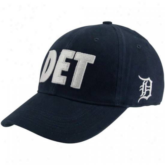 Nike Detroit Tigers Alpha Flex Hat - Navy Blue